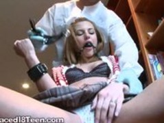 Blonde College Slut Masturbates While Playing BDSM Thumb