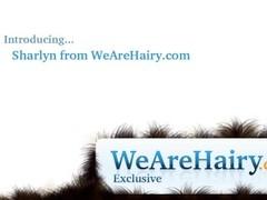 Hairy woman Sharlyn enjoys making a personal video Thumb
