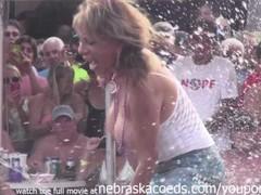 dantes pool wet tshirt pole contest during fantasy fest 2013 Thumb