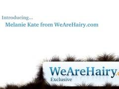 Hairy woman Melanie Kate takes off wedding dress Thumb