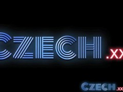 Czech Fashion model milks cock dry in Office Thumb