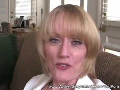 Amateur Housewife Swallows Cum Thumb