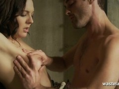 Lactating slave restrained and finger fucked to orgasm in the dungeon Thumb