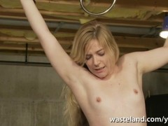 Electro session for pretty blonde slave as she gets brought to orgasm Thumb