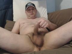 Uncut solo male masturbating Thumb
