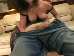 Pantyhose face sitting and oral sex on a couch Thumb