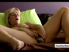 Danish blondie Laura shows intimate home solo Thumb
