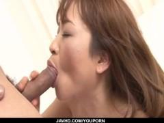 Japan wife, Hikaru Wakabayashi, devours hubbys cock Thumb