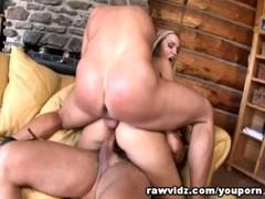 Busty Blonde Slut Gets Hardcore DP Fuck Thumb
