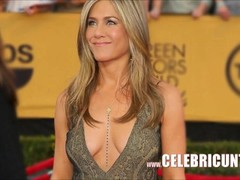 Sensational Celebrity Babe Jennifer Aniston Downblouse Collection HD Thumb