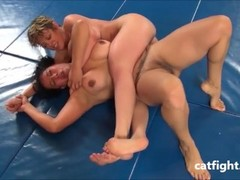 Huge busted fuck to the sexy blond in Catfight Thumb