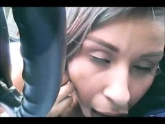 Blowjob in car. Hidden cam Thumb