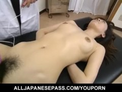 Saki Shiina has hairy cunt measured and sucks doctor phallus - More at hotajp.com Thumb