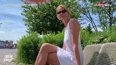 MyDirtyHobby - German blonde MILF outdoor creampie Thumb