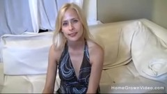 Sexy blonde wife is tired of her husbands tiny cock Thumb