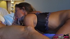 SofieMarieXXX - MILF Teases Before Riding Big Cock In Hotel Thumb
