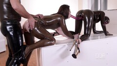 Two girls in latex Thumb