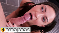 Dane Jones Euro brunette Cassie Del Isla deepthroat Valentines day hot sex and creampie Thumb