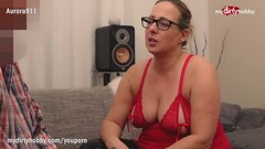 MyDirtyHobby - Horny MILF with glasses fucks her new boyfriend Thumb